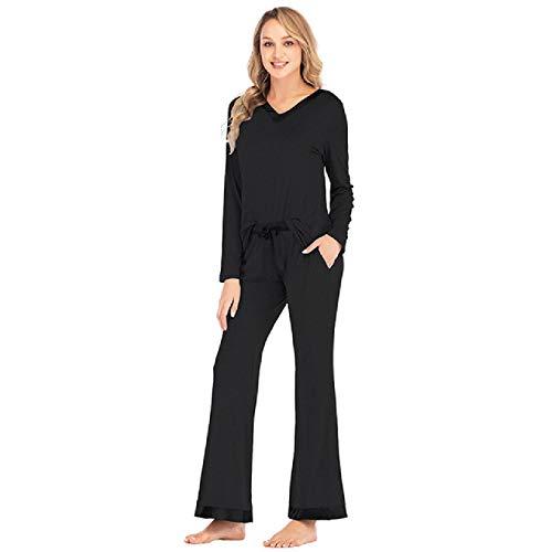 Conjunto de Pijamas para Mujer Conjunto de Pijamas con patrón de Dibujos Animados Pijama Fino Mujer
