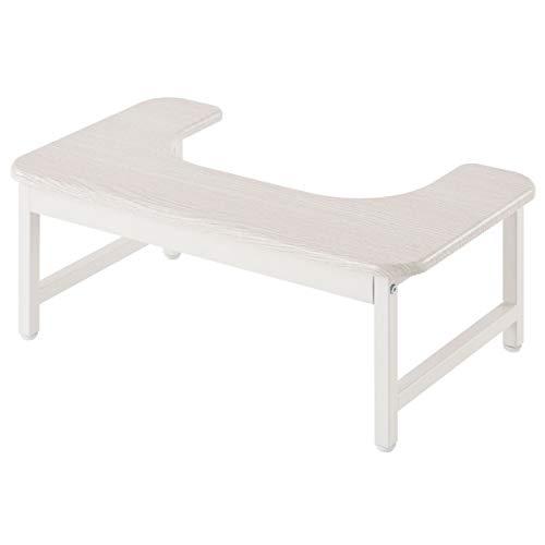 ぼん家具 踏み台 トイレ ステップ 木製 大人 子供 兼用 トイトレ ホワイト 開口部36.5cm