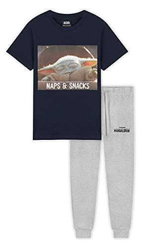 The Mandalorian Pyjama for Boys (13-14 Years, Blue)