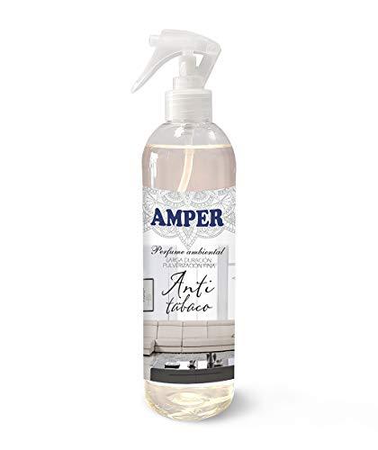 AMPER ANTITABACO 500 ml - Spray Ambientador Pulverización Fina. Larga duración. Aroma suave