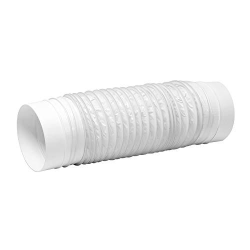 Ø 125mm 50cm Longitud Blanco PVC Manguera Flexible - Tubo de conducto, Tumble, Conector