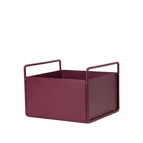 1yess Pflanze Containers- Eisen-Blumen-Standplatz/Betriebsstandpl/Storage Box, Rechteck Desktop-Wohnzimmer/Schlafzimmer/Büro, Blumen Topfpflanze Blumenregal (Farbe: Rot, Größe: A)