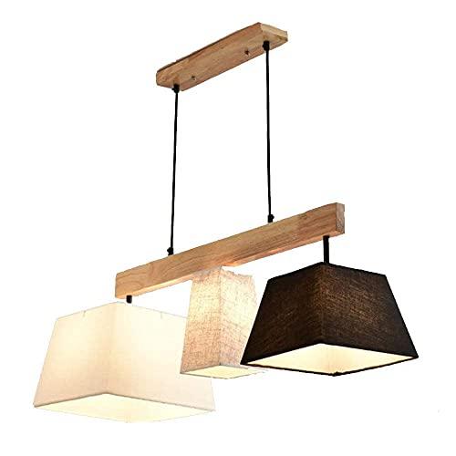 Lámpara de techo moderna de madera maciza con forma de candelabro del norte de Europa, para salón, comedor, dormitorio, estudio y personalidad, casquillo E27
