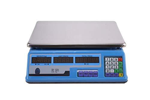 ZCY 66,14 Lb. Nauwkeurige elektronische weegschaal 88,18Lb/2G fruit keuken weegschaal markt prijssala, roestvrij staal platform weegschaal ES1008