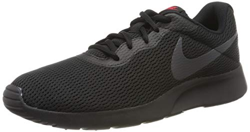 Nike Herren Tanjun Laufschuhe, Schwarz (Black/Dark Grey-Red orbit/015), 42.5 EU