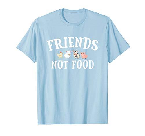 Vegetarian Vegan T-Shirt Cute, Funny Friends Not Food T-Shirt
