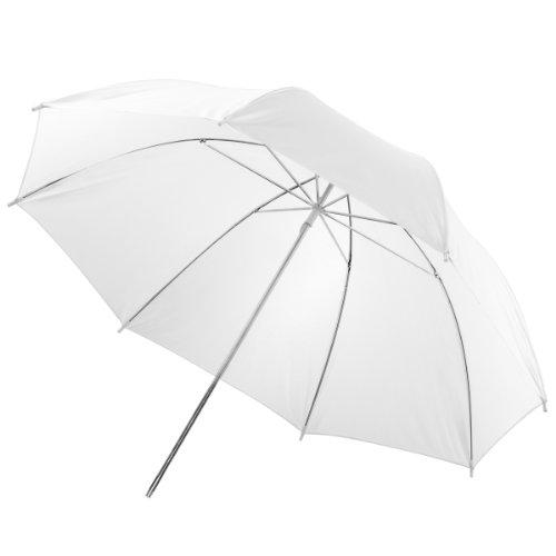 walimex doorzichtige paraplu wit, wit, 123 cm