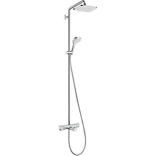 hansgrohe Croma E showerpipe 280 1jet con termostato de bañera cromo