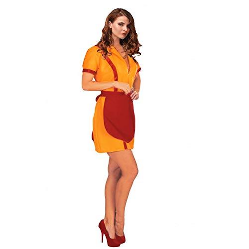 Krause & Sohn Diner-Girl Gr. S- XL Kleid gelb mit Schürze rot Kostüm (S)