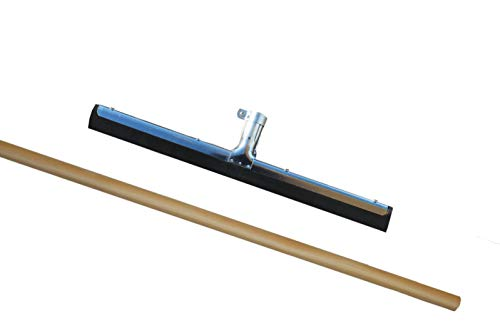 Wasserschieber Metall - einfach - INKLUSIVE Stiel (1 Stück, 60 cm)