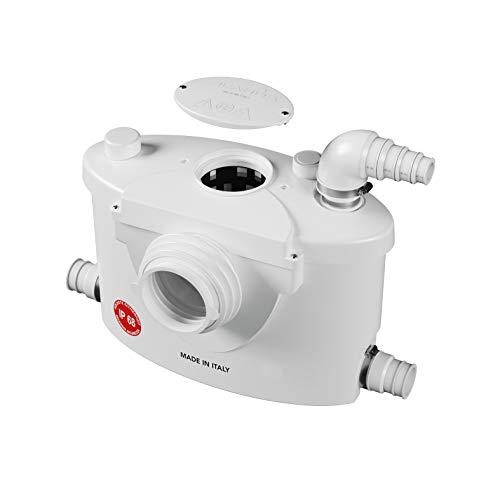 Planus Spa-Broysan 4 UP-IP68 - Caja para trituradora de inodoro, antiolores y silenciosa, grado de protección IP68, 230 V, color blanco