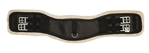 Reitsport Amesbichler HorseGuard Kurzgurt Neopren mit Kunstfell unterlegt schwarz, 65 cm