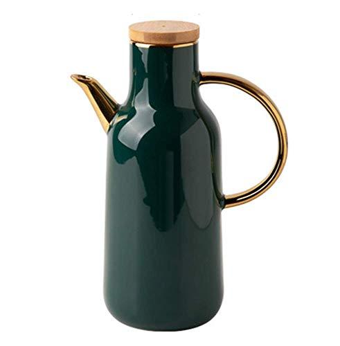 YQG Capacidad de Olla de Aceite de cerámica 800 ML Botella de condimento Grande Botella de vinagre Botella de Salsa de Soja, para Aceite de Oliva, vinagre, Verde