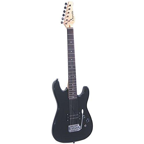 J Reynolds JR5B 3/4-size Electric Guitar, Black