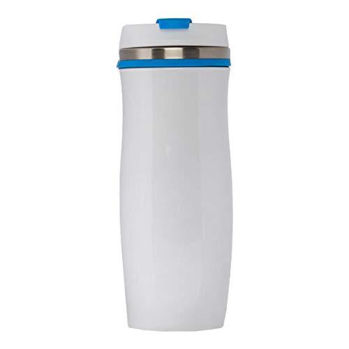 PureDay Coffee-To-Go-Becher Crema - doppelwandig, 0,4L - Edelstahl - Blau