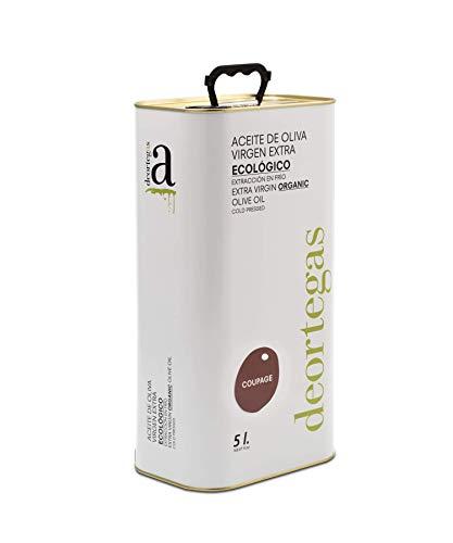 Spaanse biologische olijfolie Zuid-Spanje de beste olijfolie (virgin) voor koken / braden - mild, fruitig Murcia | La Finca Deortegas een mix van vijf soorten olijven met een zuurgraad 0,2%- goede olijfolie (5 ltr)