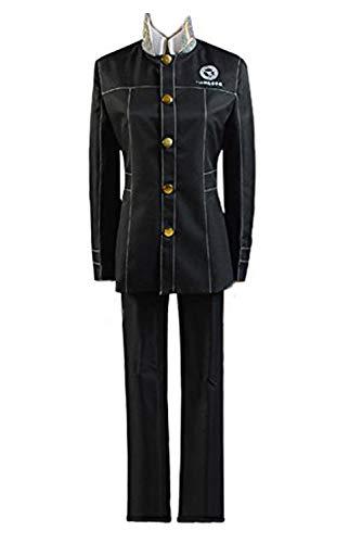 Ya-cos Shin Megami Tensei Persona 4 Yu Narukami Cosplay Costume Black Large