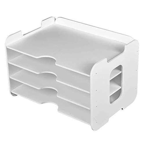 Z-SEAT Organisateur d'accessoires de Bureau de Bureau Organisateur de fichiers de Bureau avec 3 bacs à Papier pour Le Stockage des étagères de Bureau