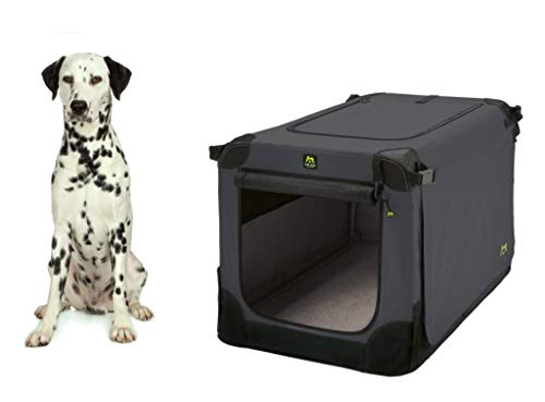 Maelson Soft Kennel Faltbare Hundebox -anthrazit- L 92 - (92 x 64 x 64 cm)