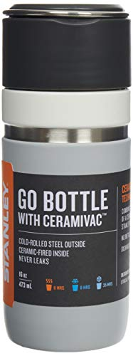 Stanley Ceramivac GO Bottle 0.7 Liter Granite Ceramivac™ Finished 18/8 Stainless Steel Double-Wall Vacuum Insulation Leakproof Packable Car Cup Compatible Dishwasher Safe Unbreakable