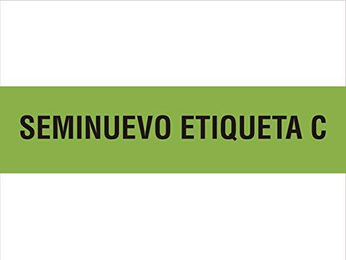 Oedim Imán para Coche - Seminuevo Etiqueta C Color Verde | 80 x 20 cm | PVC Imantado | Imán Resistente y Económico |