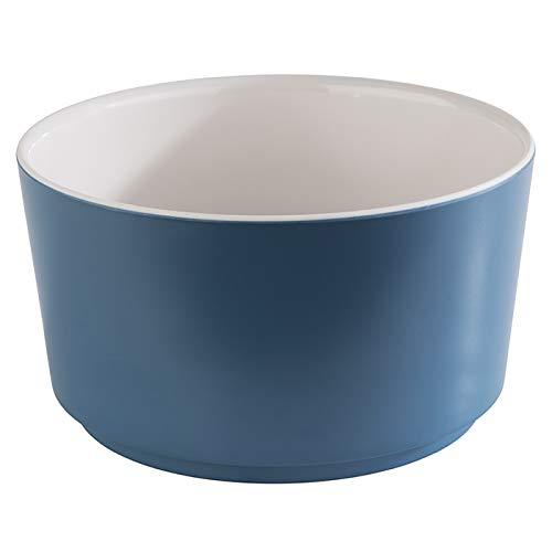 """APS Schale """"Happy Buffet"""", Bowl, runde Buffetschüssel, Schale aus Melamin, weiß/blau, Ø 13,0 cm, Höhe 7 cm, für 0,6 Liter Inhalt"""