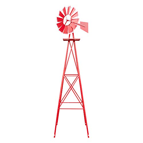 Grow Tent, 8FT Weather Resistant Yard Garden Windmill Red (US Stock)