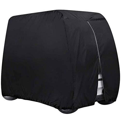 SHUI Cubierta Funda para Buggy Carro De Golf para EZ GO, Club Car, Yamaha, con Material 210D + Revestimiento Adicional De PVC, Resistente Al Agua-L: 285 * 122 * 168cm-Negro