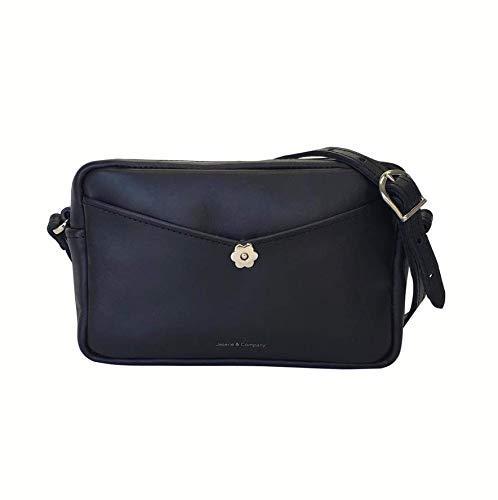 Black Leather Cross-body Topics on New popularity TV Bag Handmade