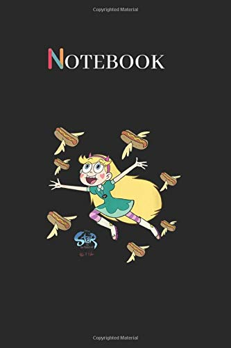 Notebook: Disney Channel Star Vs The Forces Of Evil Hot Dog Design Arts Lined Notebook Journal Black Cover Arts with College Lined Notebook Journal ... 125 Pages to Write for Kids and Men and Women
