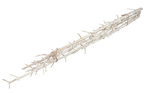 NaDeco Leiter Zweig weiß 5 Stück ca. 100cm weiße Deko Äste Deko Zweig weiß weißer Dekozweig Dekoast weiß Dekoäste weiße Dekozweige Holzdeko weiß