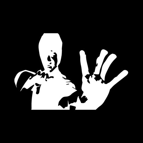 RJGOPL 15,2 cm * 10,3 cm Bruce Lee Kung Fu Karate Kampf Kampfkunst Bild Auto Aufkleber Vinyl Aufkleber schwarz/Silber C3-0044Silber