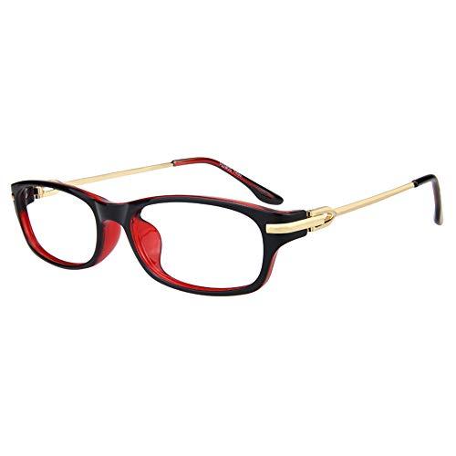 Anti Blue Light Leesbril Vrouwen Ultra Light Fashion Full Frame Red Presbyope Hyperopie Ouderen Glazen Met Dioptrie,+1.00