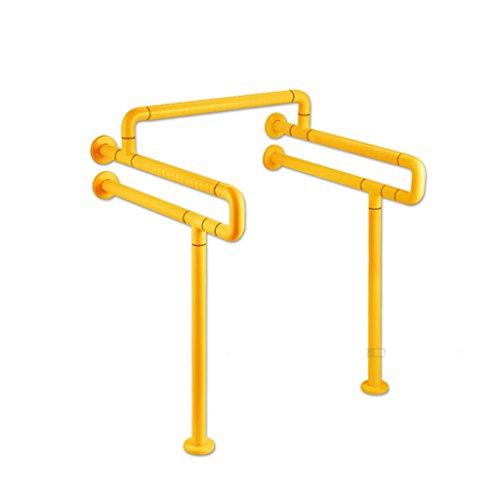 Elderly handrails QFF Monobloc WC Accoudoir avec Double en Forme de U Cross-Bar Main Courante aux Personnes âgées handicapées Accessible
