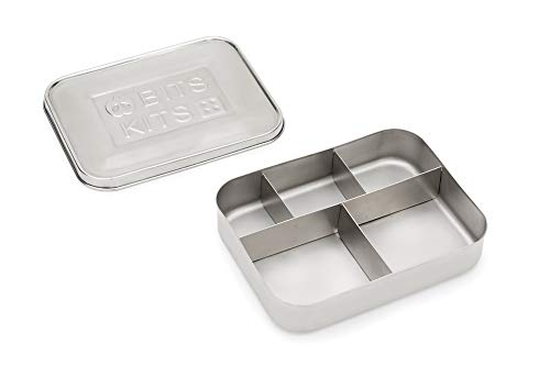 Bits Kits Stainless Steel Bento Box Lunch and Snack Container for Kids and Adults, 5 Sections