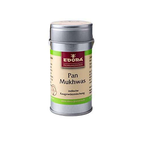 Premium Qualität Gewürz EDORA Streudose Streuer Pan Mukhwas Kaugewürzmischung aus Indien – Atemerfrischer OHNE Aroma und Farbstoffe und OHNE Zucker 30 Gramm