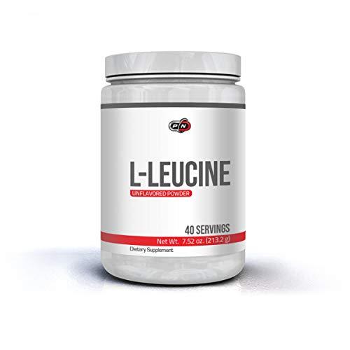 Pure Nutrition L-LEUCIN Pulver 213 gramm 40 Portionen 100% Rein Free Form Leucine Amino Acid Essentielle Verzweigtkettige Aminosäure BCAA Proteinsynthese Bodybuilding Muskelaufbau Geeignet für Veganer