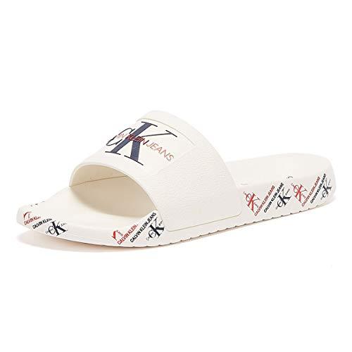 Calvin Klein Jeans Caitlyn Chanclas Blancas para Mujer-UK 8 / EU 41