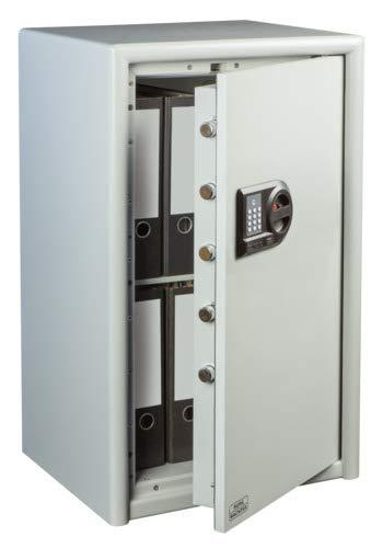 BURG-WÄCHTER Möbeltresor mit elektronischem Zahlenschloss, Combi-Line, Sicherheitsstufe S2, Feuerschutz LFS 30 P, VdS-geprüft, 78 l, 111 kg, CL 60 E, Hellgrau