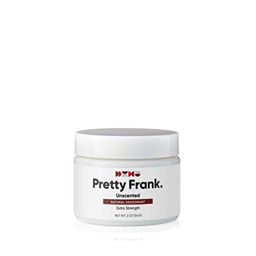 Pretty Frank Natural Deodorant - Baking Soda Extra Strength Jar, Aluminum Free Deodorant for Women, Men, Teens, Paraben & Sulfate Free, with Shea Butter, Coconut Oil, Vitamin E - Unscented (1pc)