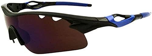 Gafas De Sol para Ciclismo Al Aire Libre para Hombre A Prueba De Arena Espejo Gafas De Sol Deportivas para Ciclismo Conducción Carrera Pesca (Blue)