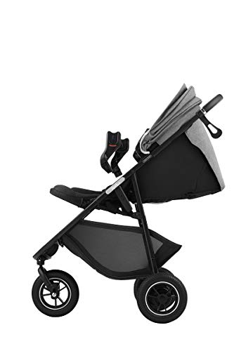 アップリカ3輪ベビーカーSmooovePremiumABスムーヴプレミアムAB(ハンドブレーキ・安定自立・新生児から使える)別売トラベルシステム対応グレービューティーデニム1か月~(1年保証)2084491