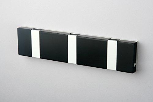 Knax Lite 3 schwarz Hakenleiste für Bad & Küche schwarz
