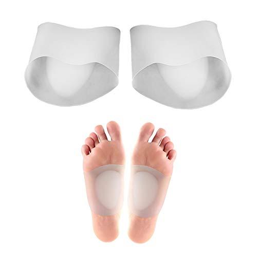 Gel Arch Support Sleeves, Arch Support Gel-Pads für Plantar Fasciitis, Plattfüße, hohe oder gefallene Bögen, Fuß- und Fersenschmerzlinderung reduzieren (beige)