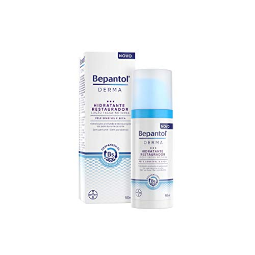 Bepantol Derma Hidratante Restaurador Loção Facial Noturna 50ml, Bepantol