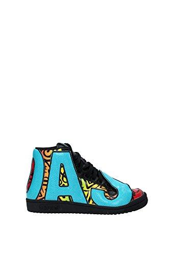 adidas JS Letters Multicolor Scarpe Sneakers Pelle Nero Multicolor per Uomo Jeremy Scott