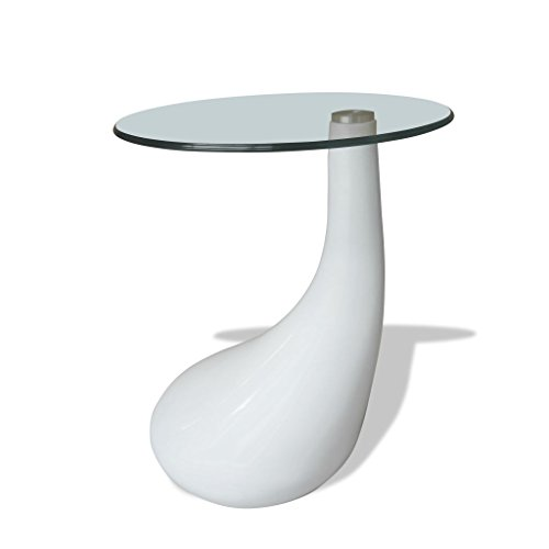 vidaXL TAVOLINO Salotto TAVOLINO Basso da Salotto Design RIPIANO Vetro Bianco