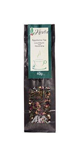 Tè Verde Tè Egitto 'Faro Di Alessandria' Ingredienti: Menta, Agrumi, Fiori D'Arancio E Ibisco, Idea Regalo Uomo Donna, 40g