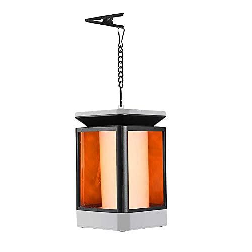 N\C Luz De Llama Solar Apagada, Luz De Rejilla Solar Intermitente De Simulación a Prueba De Agua, Luz Colgante De Llama Los 9x9x16cm/Lámpara Colgante Flame