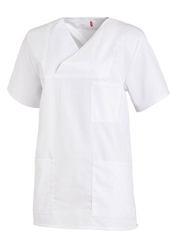 Leiber® Damen- / Herren-Schlupfjacke 08/769 für Medizin und Pflege, OP-Kleidung (I, Weiß)